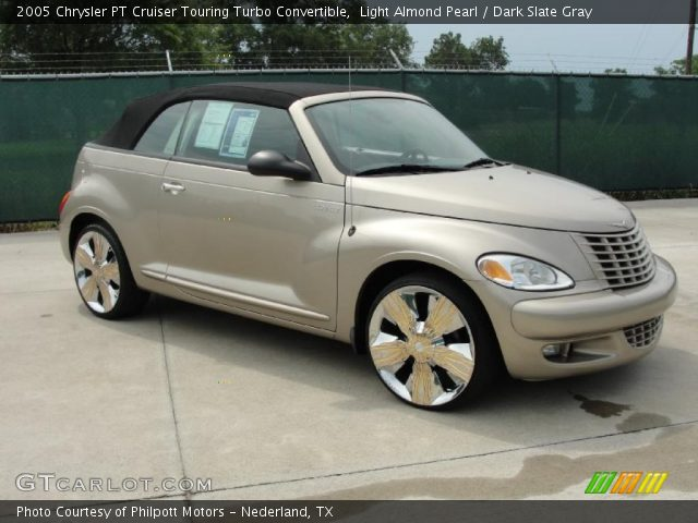 light almond pearl 2005 chrysler pt cruiser touring turbo convertible dark slate gray. Black Bedroom Furniture Sets. Home Design Ideas