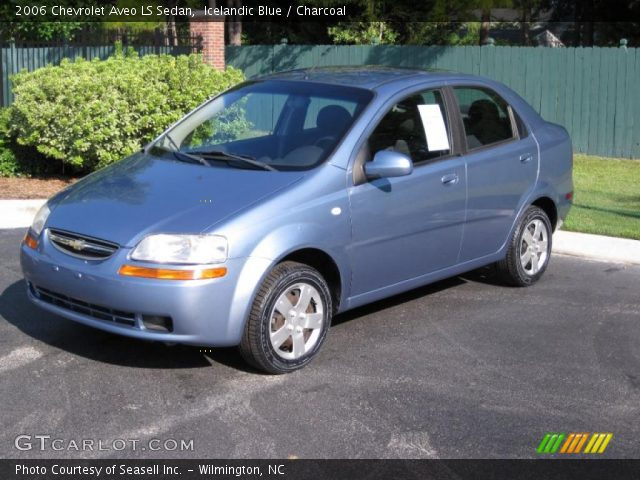 icelandic blue 2006 chevrolet aveo ls sedan charcoal. Black Bedroom Furniture Sets. Home Design Ideas