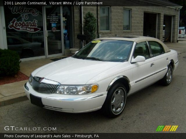 vibrant white 2001 lincoln continental light parchment interior vehicle. Black Bedroom Furniture Sets. Home Design Ideas