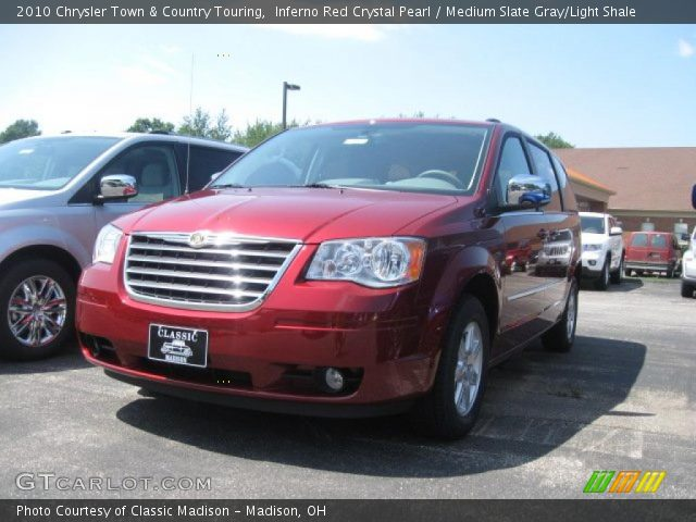 2010 Chrysler Town & Country Touring in Inferno Red Crystal Pearl