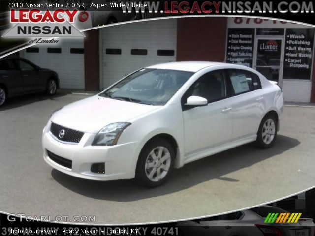 aspen white 2010 nissan sentra 2 0 sr beige interior vehicle archive 34241872. Black Bedroom Furniture Sets. Home Design Ideas