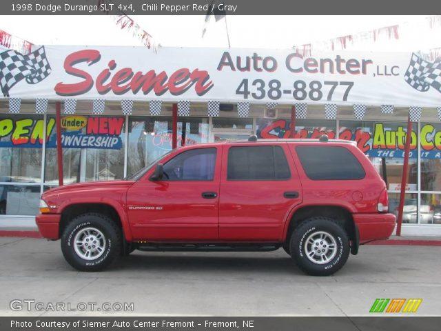 chili pepper red 1998 dodge durango slt 4x4 gray interior vehicle archive. Black Bedroom Furniture Sets. Home Design Ideas