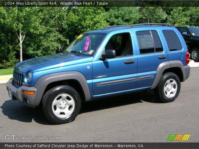 atlantic blue pearl 2004 jeep liberty sport 4x4 taupe