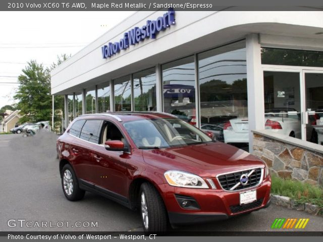 maple red metallic 2010 volvo xc60 t6 awd sandstone. Black Bedroom Furniture Sets. Home Design Ideas
