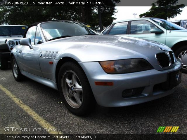 arctic silver metallic 1997 bmw z3 1 9 roadster black interior vehicle. Black Bedroom Furniture Sets. Home Design Ideas