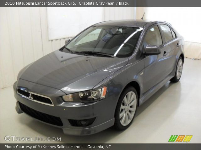 graphite gray pearl 2010 mitsubishi lancer sportback gts black interior. Black Bedroom Furniture Sets. Home Design Ideas