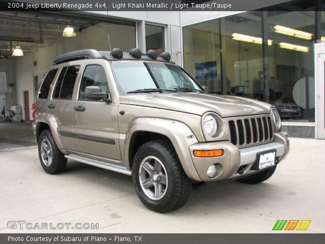 Light Khaki Metallic 2004 Jeep Liberty Renegade 4x4 Light Taupe Taupe Interior Gtcarlot