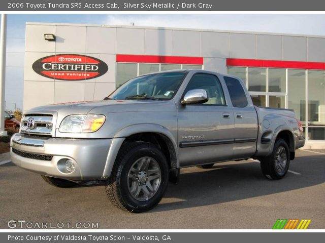 silver sky metallic 2006 toyota tundra sr5 access cab dark gray interior. Black Bedroom Furniture Sets. Home Design Ideas