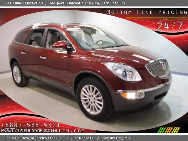 Red jewel tintcoat 2010 buick enclave cxl titanium dark titanium interior for Buick enclave titanium interior