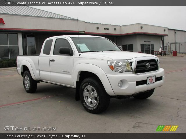 super white 2005 toyota tacoma v6 access cab 4x4 taupe. Black Bedroom Furniture Sets. Home Design Ideas