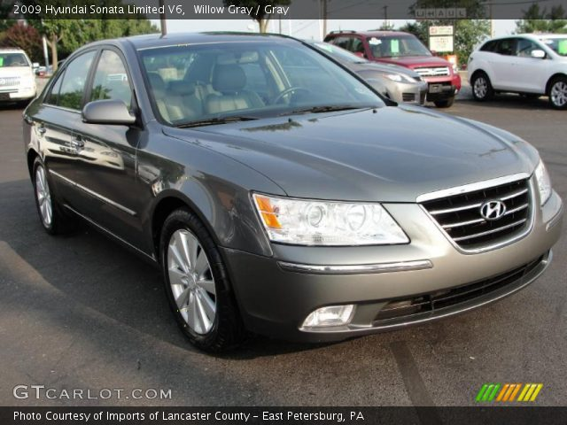 willow gray 2009 hyundai sonata limited v6 gray. Black Bedroom Furniture Sets. Home Design Ideas
