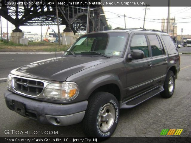 Medium Platinum Metallic 1999 Ford Explorer Xlt 4x4 Medium Graphite Grey Interior Gtcarlot