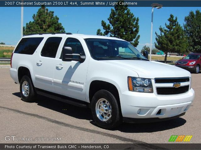 summit white 2007 chevrolet suburban 2500 lt 4x4 light cashmere interior. Black Bedroom Furniture Sets. Home Design Ideas