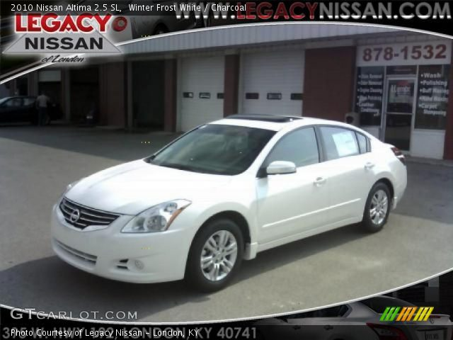 winter frost white 2010 nissan altima 2 5 sl charcoal interior vehicle. Black Bedroom Furniture Sets. Home Design Ideas