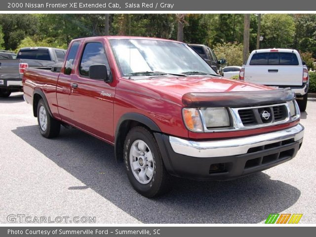salsa red 2000 nissan frontier xe extended cab gray. Black Bedroom Furniture Sets. Home Design Ideas