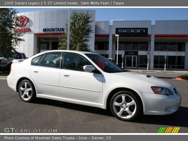 satin white pearl 2005 subaru legacy 2 5 gt limited sedan taupe interior. Black Bedroom Furniture Sets. Home Design Ideas