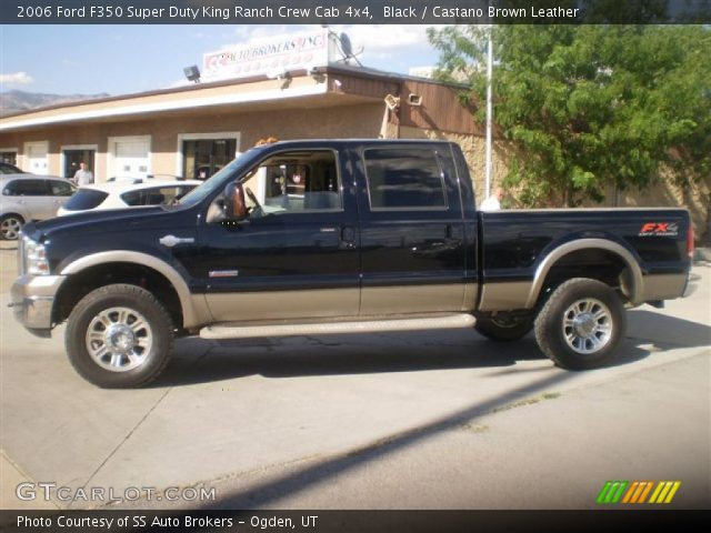 black 2006 ford f350 super duty king ranch crew cab 4x4 castano brown leather interior. Black Bedroom Furniture Sets. Home Design Ideas