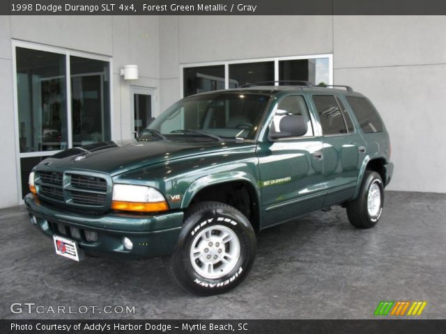 forest green metallic 1998 dodge durango slt 4x4 gray. Black Bedroom Furniture Sets. Home Design Ideas