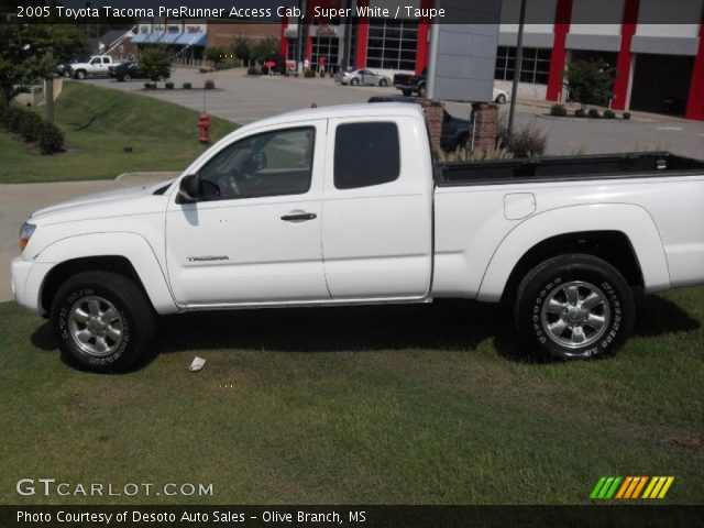 super white 2005 toyota tacoma prerunner access cab. Black Bedroom Furniture Sets. Home Design Ideas