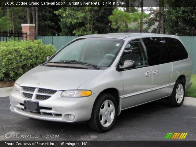 bright silver metallic 2000 dodge grand caravan sport mist gray interior. Black Bedroom Furniture Sets. Home Design Ideas