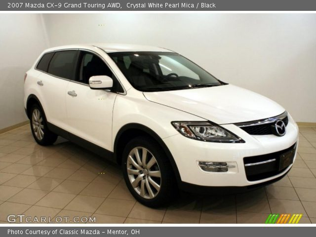crystal white pearl mica 2007 mazda cx 9 grand touring awd black interior. Black Bedroom Furniture Sets. Home Design Ideas