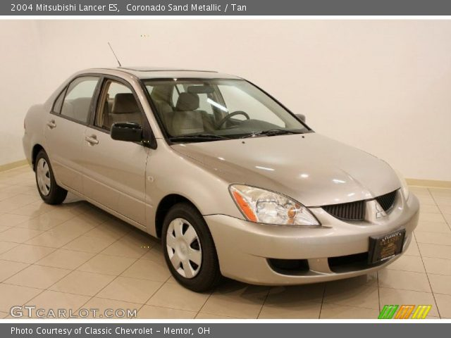 coronado sand metallic 2004 mitsubishi lancer es tan interior vehicle. Black Bedroom Furniture Sets. Home Design Ideas