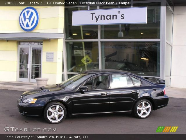 obsidian black pearl 2005 subaru legacy 2 5 gt limited sedan taupe interior. Black Bedroom Furniture Sets. Home Design Ideas