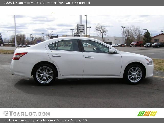 2009 Nissan Maxima 3.5 S in Winter Frost White
