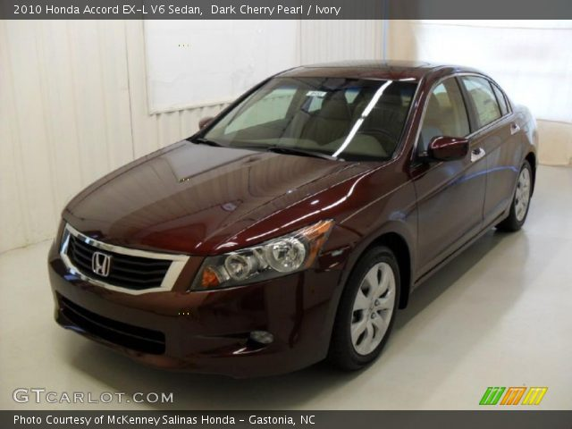 dark cherry pearl 2010 honda accord ex l v6 sedan. Black Bedroom Furniture Sets. Home Design Ideas