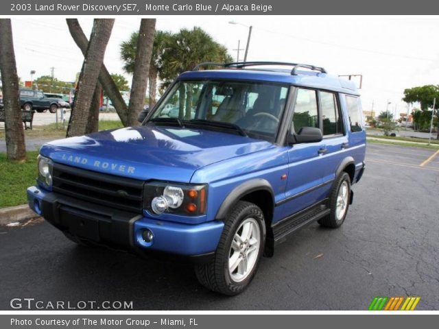 monte carlo blue 2003 land rover discovery se7 alpaca beige interior. Black Bedroom Furniture Sets. Home Design Ideas