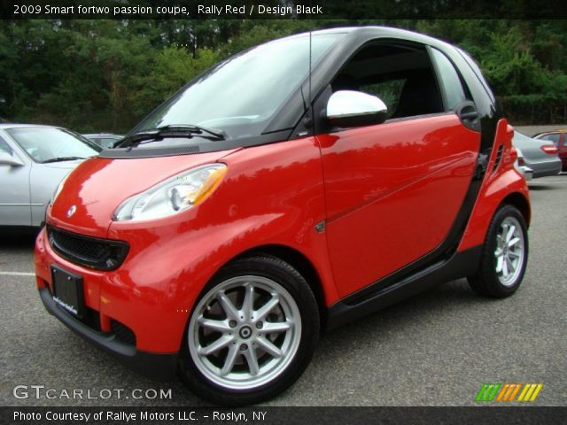 rally red 2009 smart fortwo passion coupe design black interior vehicle. Black Bedroom Furniture Sets. Home Design Ideas