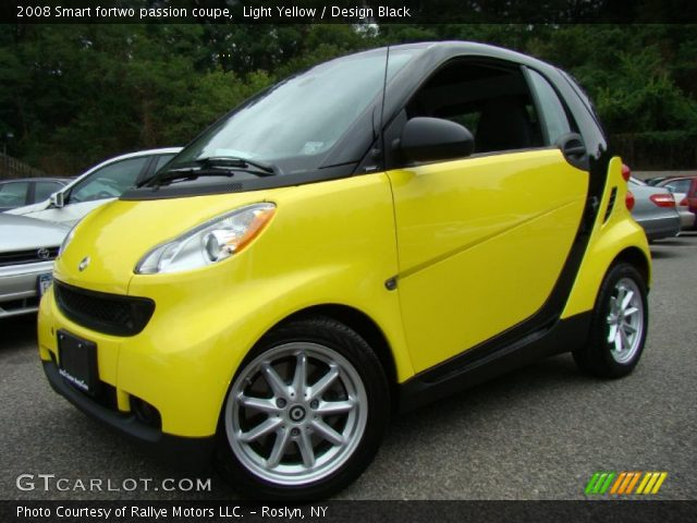 light yellow 2008 smart fortwo passion coupe design black interior vehicle. Black Bedroom Furniture Sets. Home Design Ideas