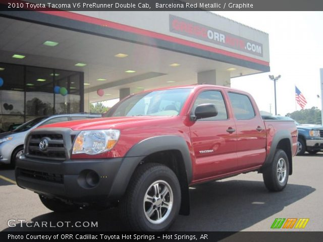 barcelona red metallic 2010 toyota tacoma v6 prerunner double cab graphite interior. Black Bedroom Furniture Sets. Home Design Ideas