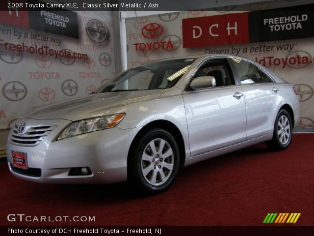classic silver metallic 2008 toyota camry xle ash interior vehicle archive. Black Bedroom Furniture Sets. Home Design Ideas