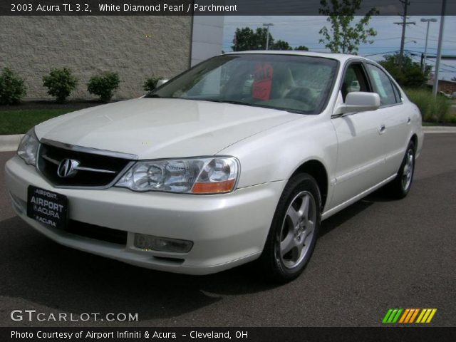 white diamond pearl 2003 acura tl 3 2 parchment. Black Bedroom Furniture Sets. Home Design Ideas