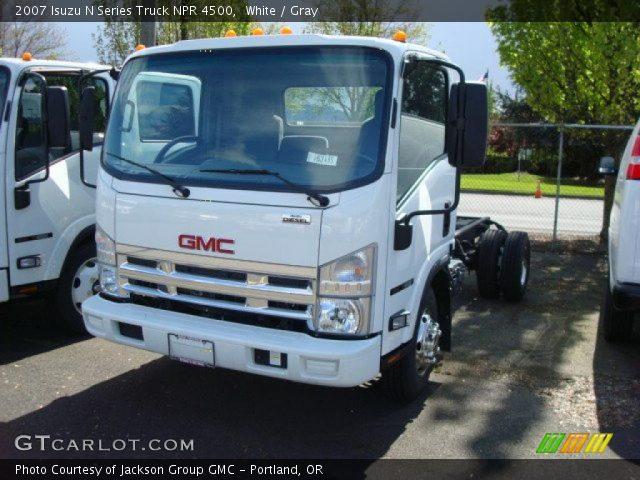 2007 Isuzu N Series Truck NPR 4500 in White
