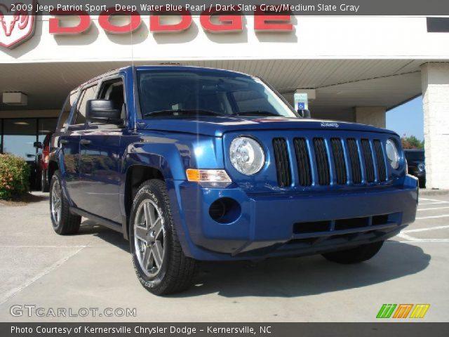 deep water blue pearl 2009 jeep patriot sport dark. Black Bedroom Furniture Sets. Home Design Ideas