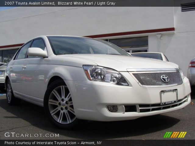 2007 Toyota Avalon Limited in Blizzard White Pearl. Click to see large ...