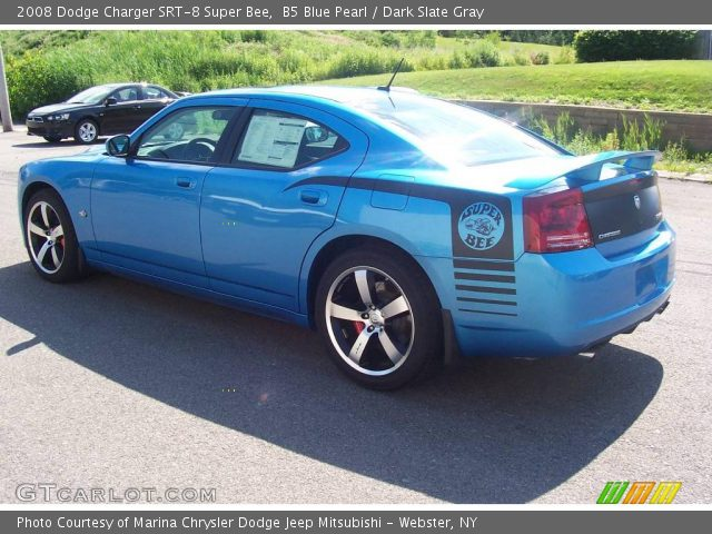 b5 blue pearl 2008 dodge charger srt 8 super bee dark. Black Bedroom Furniture Sets. Home Design Ideas