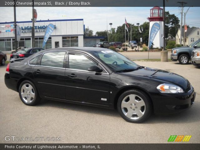 black 2006 chevrolet impala ss ebony black interior. Black Bedroom Furniture Sets. Home Design Ideas