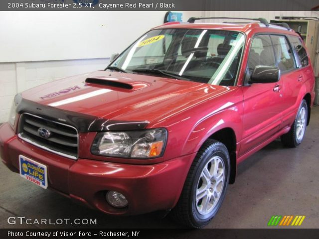 cayenne red pearl 2004 subaru forester 2 5 xt black interior vehicle. Black Bedroom Furniture Sets. Home Design Ideas