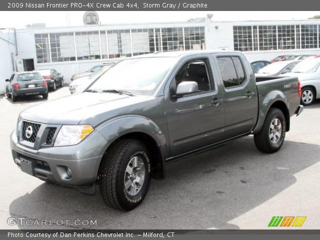 storm gray 2009 nissan frontier pro 4x crew cab 4x4 graphite interior. Black Bedroom Furniture Sets. Home Design Ideas