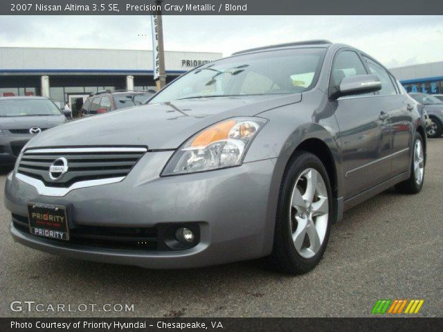 Precision Gray Metallic - 2007 Nissan Altima 3.5 SE - Blond Interior ...