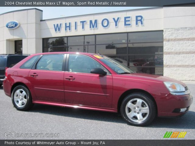 sport red metallic 2004 chevrolet malibu maxx lt wagon. Black Bedroom Furniture Sets. Home Design Ideas