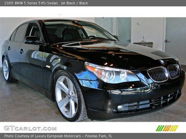 jet black 2005 bmw 5 series 545i sedan black interior vehicle archive 35055486. Black Bedroom Furniture Sets. Home Design Ideas