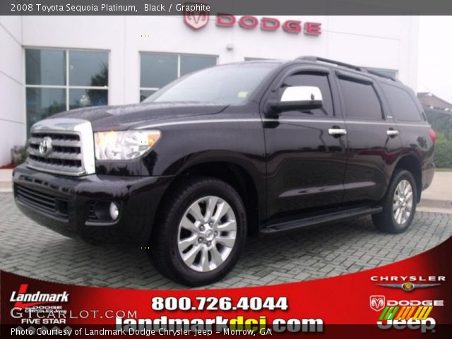 black 2008 toyota sequoia platinum graphite interior. Black Bedroom Furniture Sets. Home Design Ideas