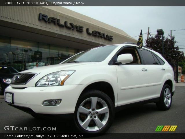 crystal white 2008 lexus rx 350 awd ivory interior vehicle archive 35163639. Black Bedroom Furniture Sets. Home Design Ideas