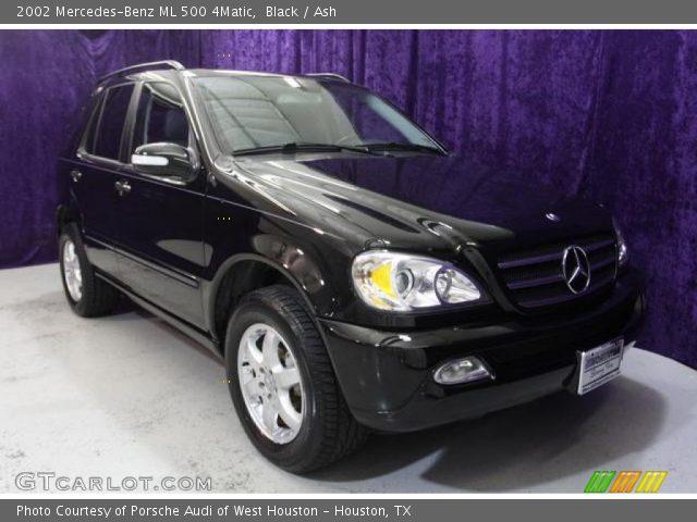 Black 2002 mercedes benz ml 500 4matic ash interior for Mercedes benz ml 2002