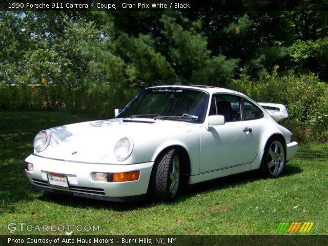 gran prix white 1990 porsche 911 carrera 4 coupe black interior vehicle. Black Bedroom Furniture Sets. Home Design Ideas