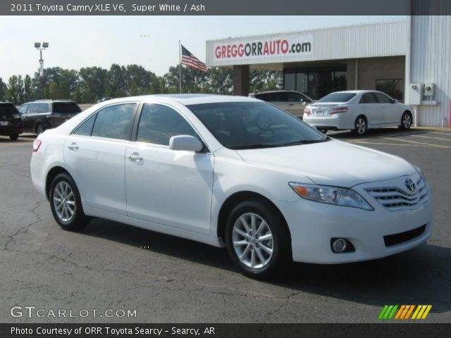super white 2011 toyota camry xle v6 ash interior. Black Bedroom Furniture Sets. Home Design Ideas